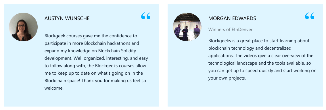 Enterprise Blockchain Training with Blockgeeks