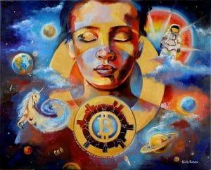 """Crypto art """"Absolute Start"""" by Nelly Baksht"""