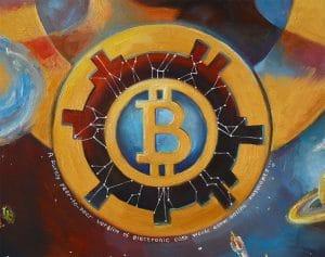 """Crypto art """"Absolute Start"""" details by Nelly Baksht"""