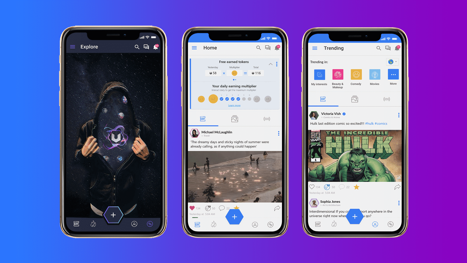 Next-Gen Social Network - Uhive - Sharing 8 Billion Crypto Tokens with Users