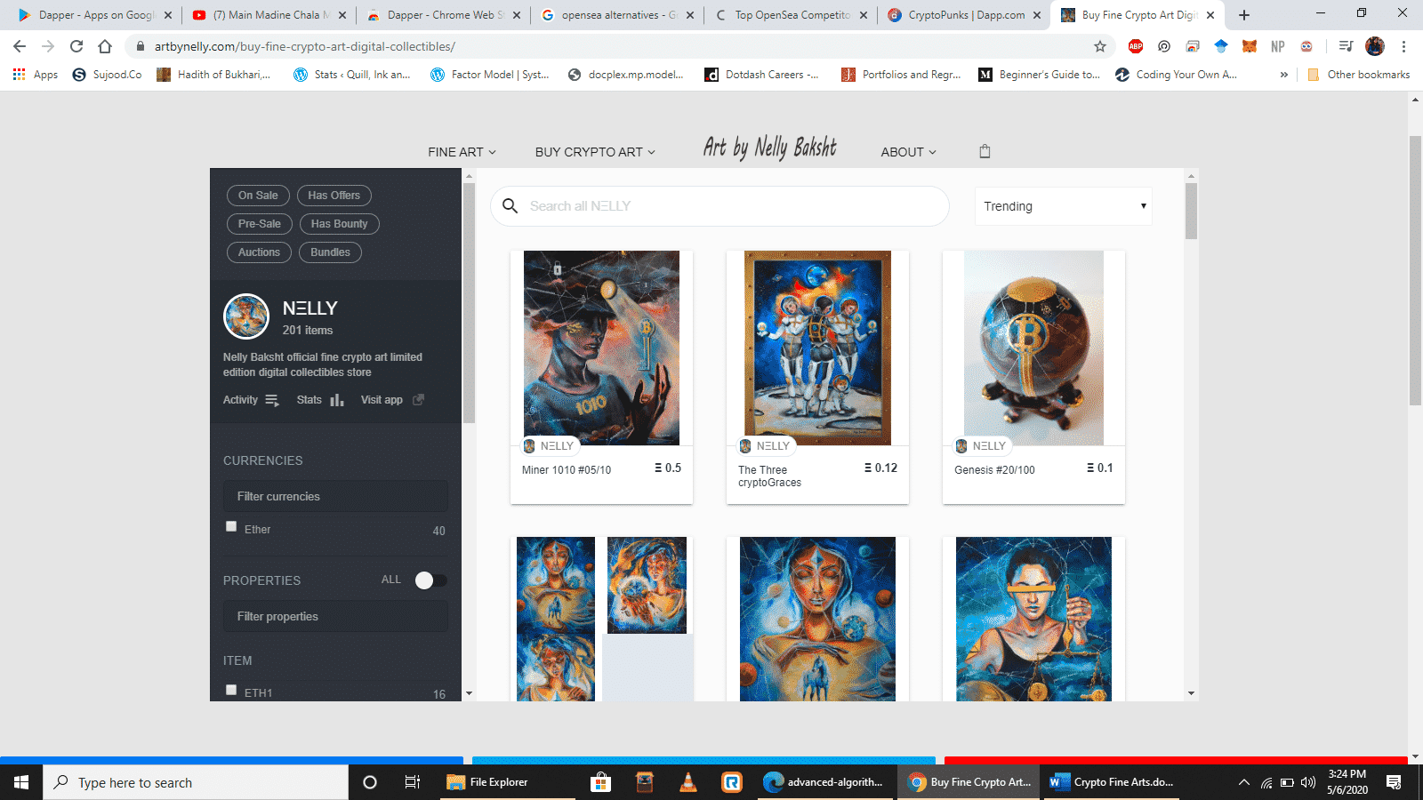 Fine crypto art gallery by Nelly Baksht