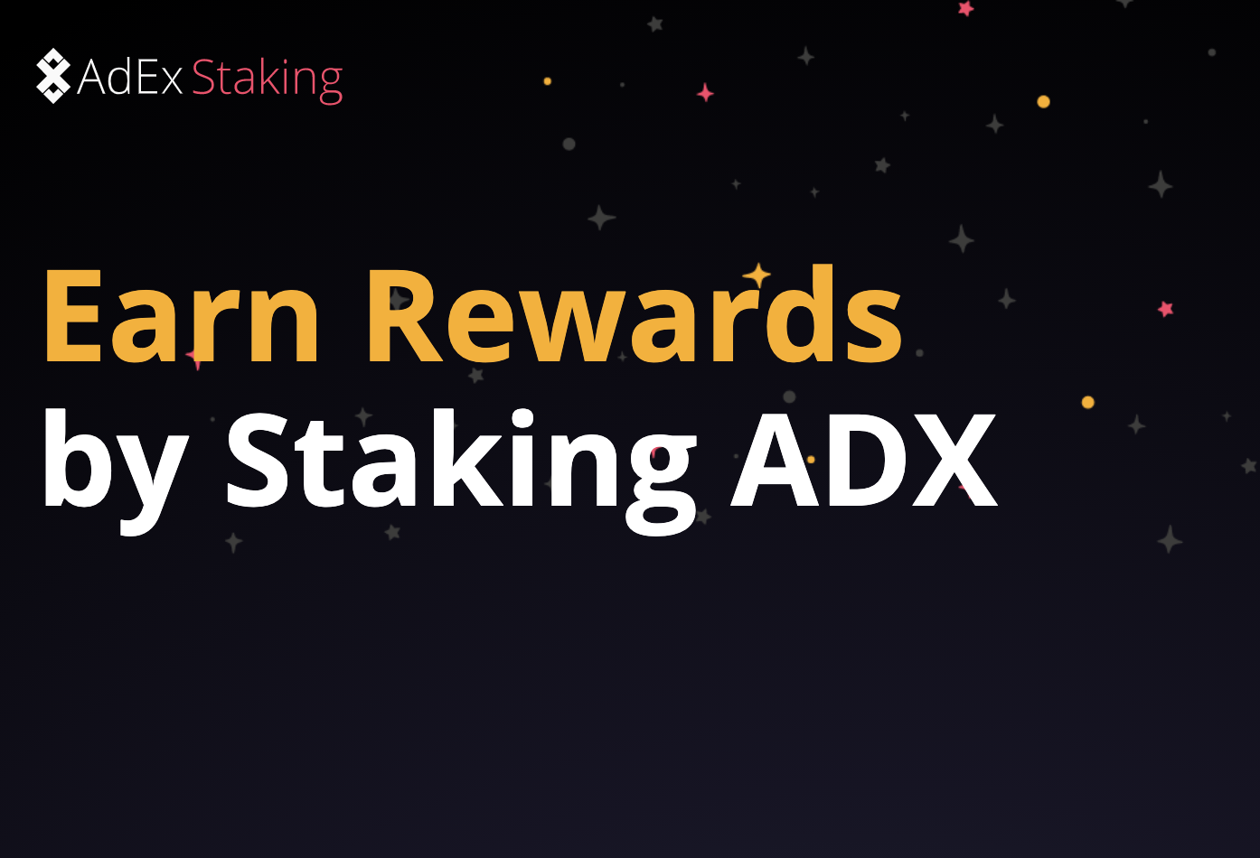 AdEx Staking Guide